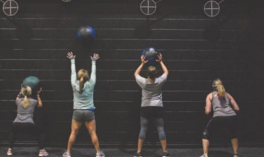 women exercising for fitness bootcamp class