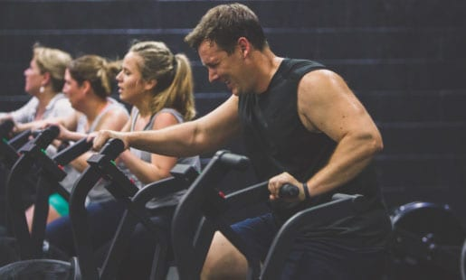 man leading fitness bootcamp class