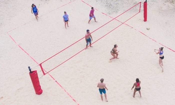 sand volleyball court in concord