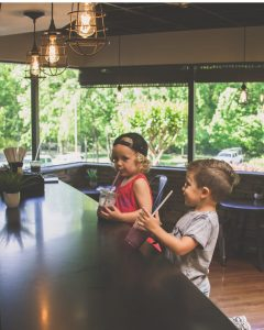 children at smoothie bar in gym concord