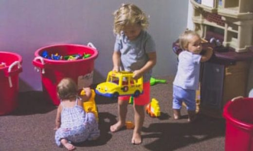children playing with toys at gym chilcare options